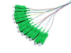 Optical pigtail SC/APC, 1.5m, Color Coded, Non-easy strip