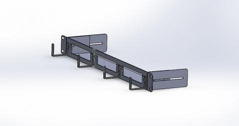 "FB Plug-in 19"" 1U 3 Slots Chassis"